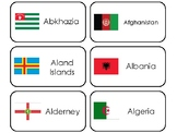 245 World Flags Printable Flashcards. Preschool-Elementary