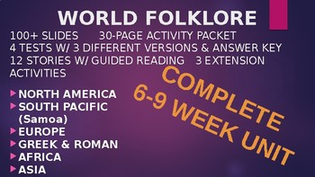 World Folklore & Mythology Close Reading Unit: (6-9) Weeks COMPLETE BUNDLE
