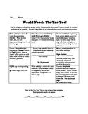 World Foods Tic Tac Toe Project