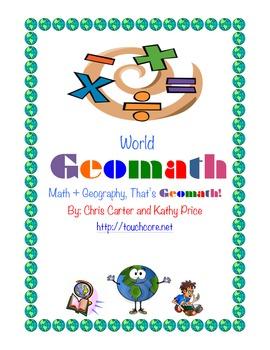 World GEOMATH - Math + Geography = Common Core Fun