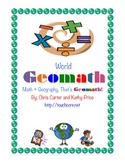 World GEOMATH - Math + Geography = Common Core Fun
