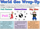 World Geo Wrap-Up Assessment - History - Pull Factors, Connections, & Big Idea