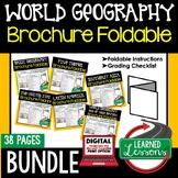World Geography Activities BUNDLE, World Geography Foldabl