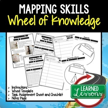 World Geography Activities BUNDLE, Wheel of Knowledge (Interactive Notebook)
