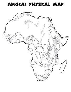 World Geography Africa - Blank Map & Map Labeling List