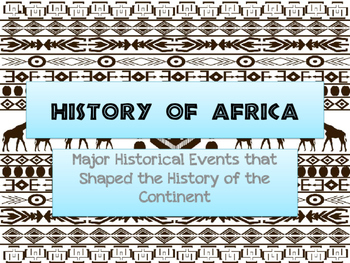 World Geography Africa - History