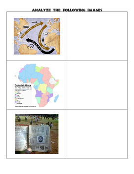 World Geography Africa - History Graphic Organizer