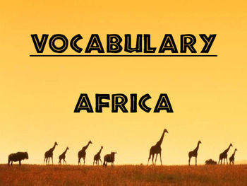 World Geography Africa - Vocabulary Presentation