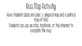 World Geography - Asia - Map Labeling Activity