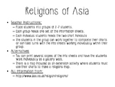 World Geography - Asia - Religions Activity