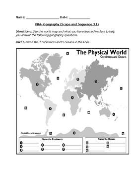 World Geography Assessment- Third grade