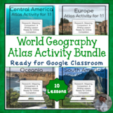 World Geography Atlas Analysis Activities for Google Drive