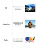 World Geography - Basics of Geography - Vocabulary Cards