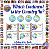 World Geography Boom Cards™: Which Continent Is The Country In?