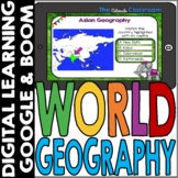 World Map and Geography DIGITAL Cards Bundle | Google Clas