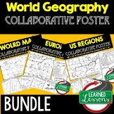 World Geography Collaborative Poster, World Geography Mapping Activity BUNDLE