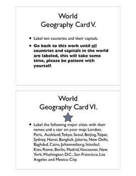 World Geography Command Cards