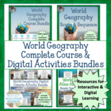 World Geography Complete Course & Online Activities Bundles