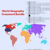 World Geography Crossword Bundle