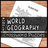 World Geography Crossword Puzzles Bundle