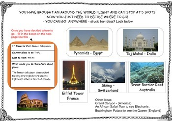 Plan your holiday activity - World Geography - Design your dream world holiday