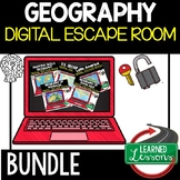World Geography Digital Escape Room Breakout Room Distance