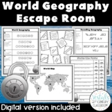 World Geography Escape Room {Digital & PDF Included}