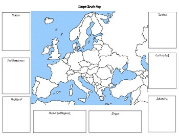World Geography - Europe - Climate Graphic Organizer