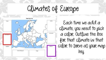 World Geography - Europe - Climate Powerpoint