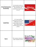 World Geography - Europe & Russia - Vocabulary Cards