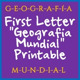 World Geography First Letter Printable - Great for Beginni