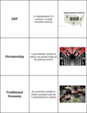 World Geography - Human Geography (B) - Vocabulary Cards