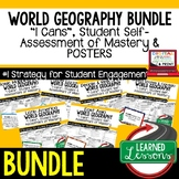 World Geography I Cans, Geography Posters BUNDLE, Geograph