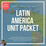 World Geography Latin America Student Packet: Editable
