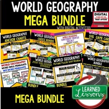 World Geography Curriculum MEGA BUNDLE, World Geography Activities, Google Links