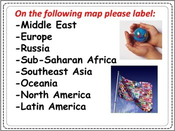 world geography map activities