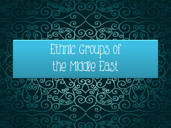 World Geography Middle East Ethnic Groups