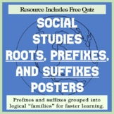 Geography Prefixes and Suffixes - Posters and Quiz