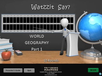 World Geography Pt 2 - A Watzzit Say? Game
