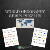 World Geography Rebus Puzzles- Distance Learning