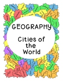 World Geography Research Cities Continents PDF Digital Social Studies Worksheet