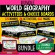 World Geography Russia Activities, Choice Board, Print & Digital, Google