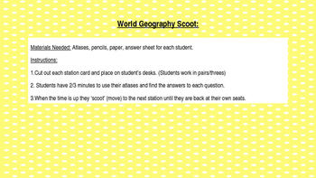 World Geography Scoot