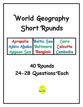 World Geography Short Rounds