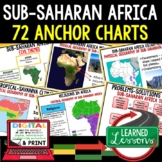 World Geography Sub-Saharan Africa Anchor Charts
