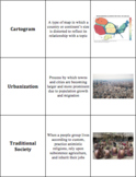 World Geography - Sub-Saharan Africa - Vocabulary Cards