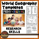 World Geography Fact Sheets: Templates for the Country of Your Choice