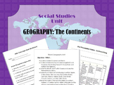 World Geography Unit Plan: 1-2 weeks Continents and Oceans