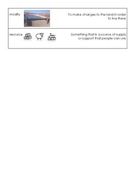 World Geography Vocabulary Cards (S.S. framework aligned)