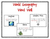 World Geography Word Wall